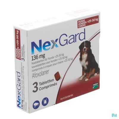 Nexgard 136mg Xl 25-50kg Kauwtabl 3