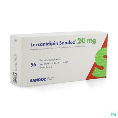 Lercanidipin Sandoz 20mg Comp 56 X 20mg