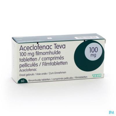 Aceclofenac Teva 100mg Filmomh Comp 60 X 100mg