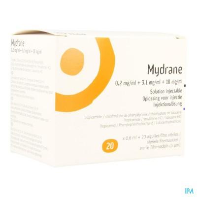 Mydrane Opl Intracamerale Injectie Amp 20 X 0,6ml