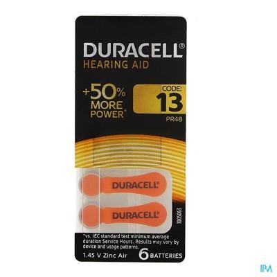 Duracell Easytab Hoorbatterij Da13 6 Oranje