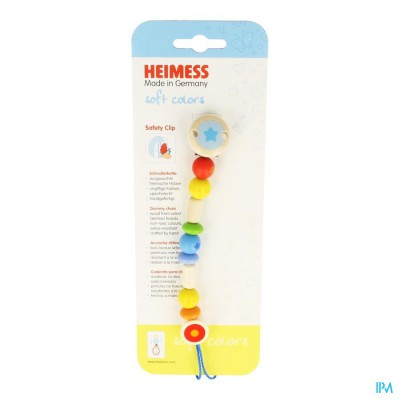 Heimess Fopspeenketting Hout Regenboog H736840