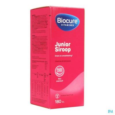 Biocure Junior Siroop Suikervrij 180ml