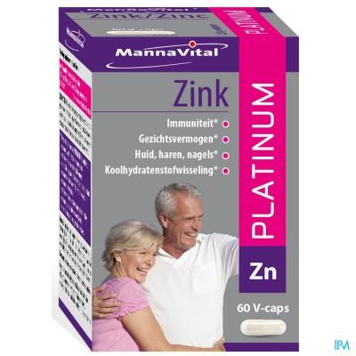 Mannavital Zink Platinum V-caps 60