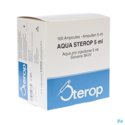 Aqua Sterop Pour Inj Solvens Amp 100 X 5ml