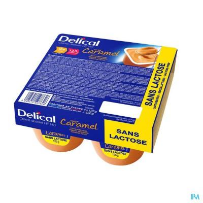Delical Creme Dessert Hp-hc Z/lact.caramel 4x125g
