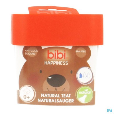 Bibi Zuigspeen Happiness Fles 0+