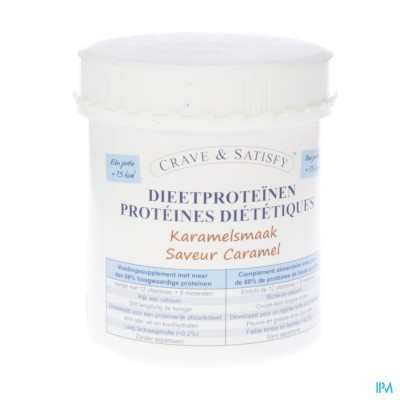 Crave & Satisfy Dieetproteinen Karamel Pot 200g