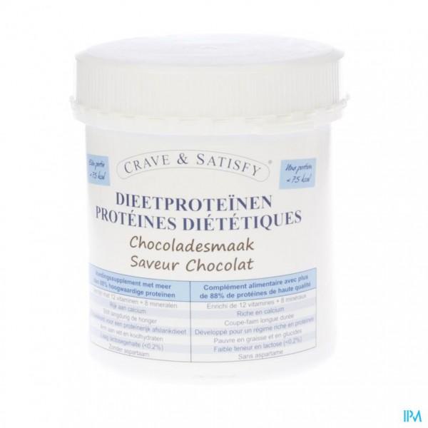 Crave & Satisfy Dieetproteinen Chocola Pot 200g