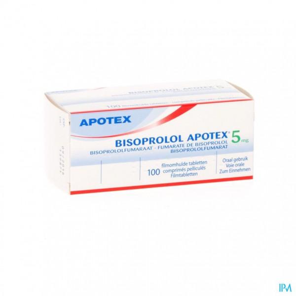 Bisoprolol Apotex 5mg Deelbare Filmomh Tabl 100