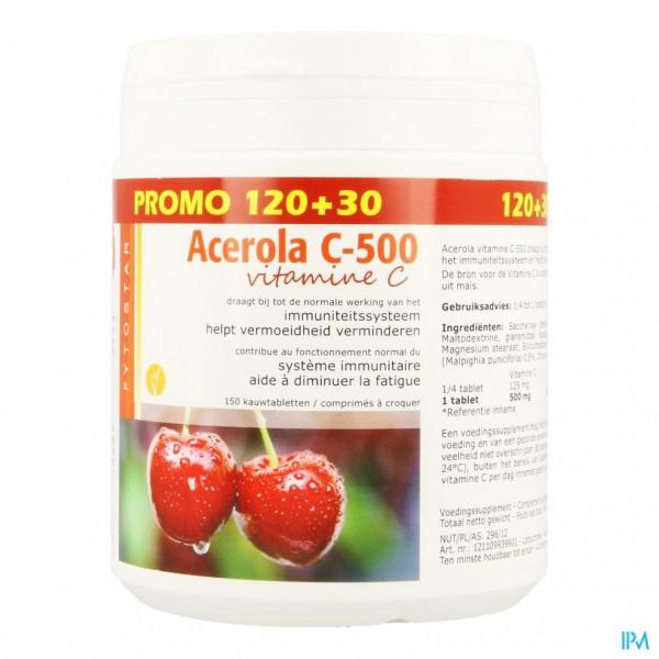 Acerola 500 Tabl 120+30 Gratis