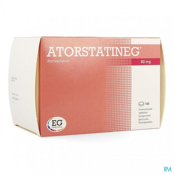 aantrekkelijke prijs speciale verkoop verschillende ontwerpen Atorstatineg 80mg Filmomh Tabl 100   Apotheek Monnens